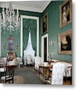 The White House Green Room Metal Print