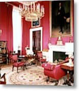 The White House Red Room Metal Print