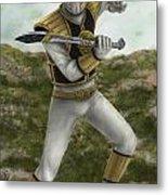 The White Ranger Metal Print