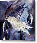 The White Raven Metal Print by Carol Cavalaris
