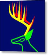 The White Tailed Christmas Deer Wishes You A Merry Christmas Metal Print