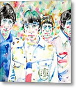 The Who - Watercolor Portrait Metal Print
