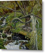 The Willow Woman Washing Her Hair Metal Print