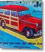 The Willys - Overland Jeep Station Wagon Metal Print