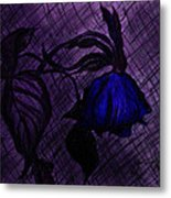 The Wilted Blue Rose Metal Print