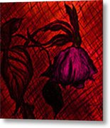 The Wilted Pink Rose Metal Print