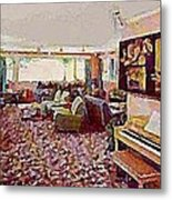 The Windham Arms Lounge In Windham M Y Metal Print