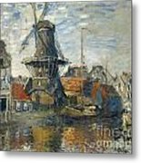 The Windmill On The Onbekende Gracht Amsterdam Metal Print