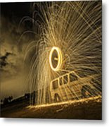 The Windmill Steel Wool Metal Print by Israel Marino