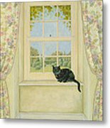 The Window Cat Metal Print