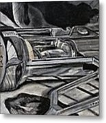 The Wine Master's Touch Metal Print