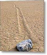The Winner Death Valley Moving Rock Metal Print