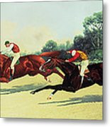 The Winning Post In Sight Metal Print by Henry Stull