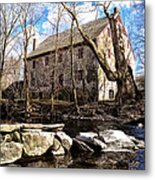The Wissahickon Creek And Mather Mill Metal Print