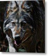 The Wolf Digital Art Metal Print