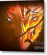 The Wolf Is Watching Metal Print