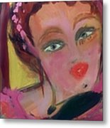 The Woman Who Whistled At The Opera Metal Print by Judith Desrosiers