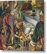 The Woman With The Box Of Ointment Metal Print by Harold Copping