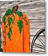 The Wooden Pumpkin Metal Print