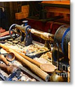 The Woodworker Metal Print by Paul Ward
