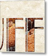 The Word Is Muffins Metal Print