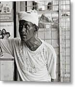 The Worker In Cochin Metal Print