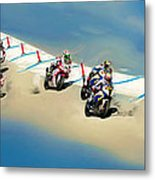 The World Super Bike Grid Metal Print