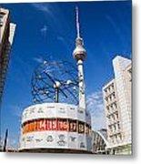 The Worldtime Clock Alexanderplatz Berlin Germany Metal Print