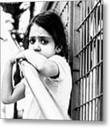 The Worried Little Girl Metal Print