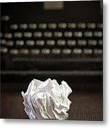 The Writer Metal Print