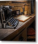 The Writer's Desk Metal Print