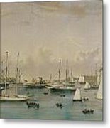 The Yacht Squadron At Newport Metal Print