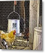 The Yellow Chicken Metal Print