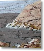 The Yellow Cliff Metal Print