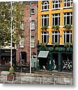 The Yellow House At The Liffey River - Dublin - Ireland Metal Print