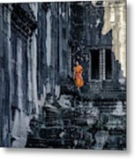 The Young Monk Metal Print
