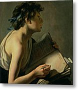 The Young Poet Metal Print