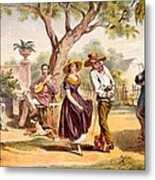 The Zapateado - National Dance, 1840 Metal Print