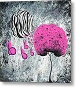 The Zebra Effect 1 Metal Print by Oddball Art Co by Lizzy Love