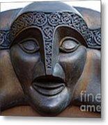 Theater Mask Metal Print