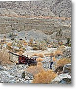 Thelma And Louise Memorial Car Wreck In Pushawalla Palms Canyon In Coachella Valley-california  Metal Print