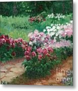 Thelma Steel's Garden Metal Print by Ron Bowles