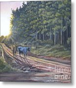 Them Cows Is Out Again Metal Print