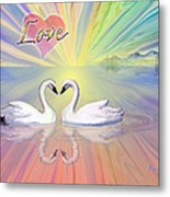 Themes Of The Heart-love Metal Print