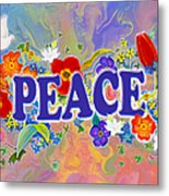 Themes Of The Heart-peace Metal Print