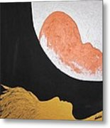 ..then The Moon Come To Kiss Good Bye... Metal Print