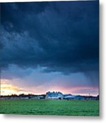 There Is A Rainbow Behind The Storm Metal Print