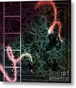 There Is Something In The Dark Metal Print