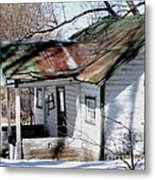 There Was A Crooked House Metal Print