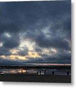 There's A Freedom In The Night Metal Print